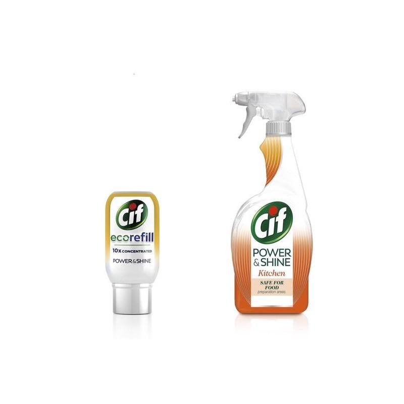 Cif Power & Shine Kitchen Spray & Refill