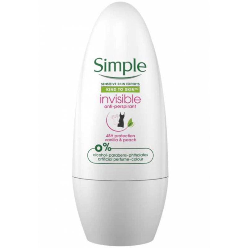Simple Invisible Anti-Perspirant Roll-On