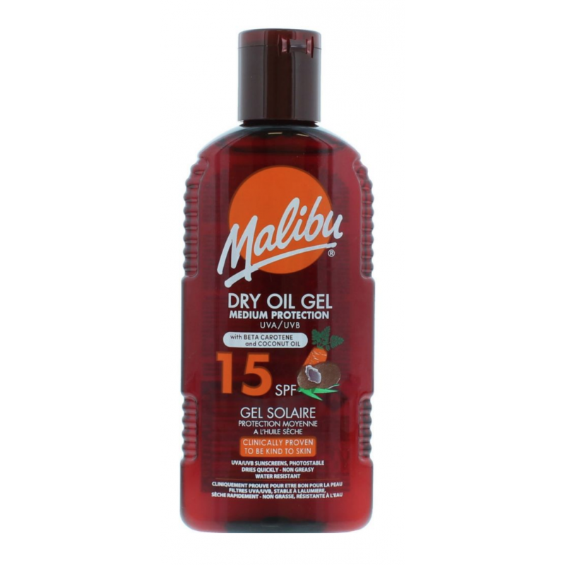 Malibu Dry Oil Gel With Carotene & Coconut Oil SPF15