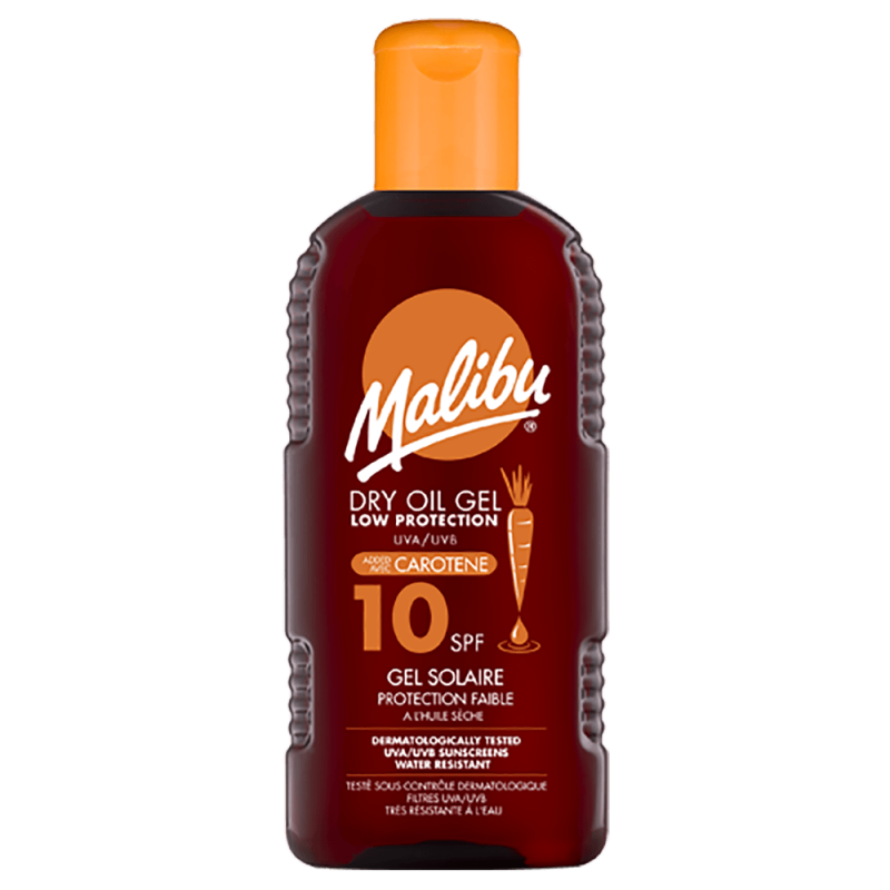 Malibu Dry Oil Gel With Carotene SPF10
