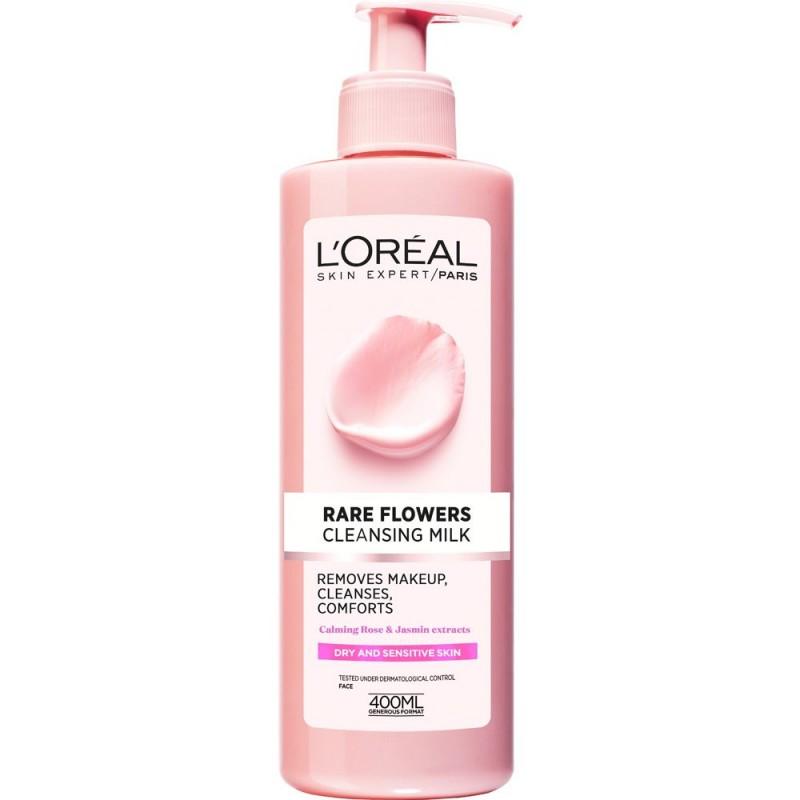 L'Oreal Rare Flowers Cleansing Milk For Dry & Sensitive Skin