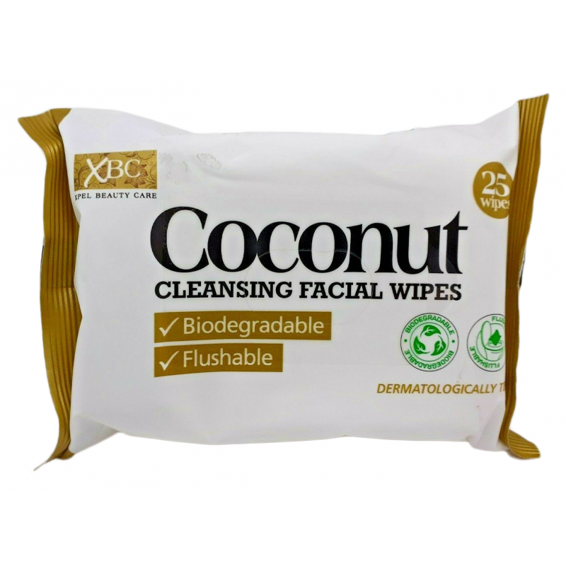 Revitalising Coconut Water Biodegradable Facial Wipes Twin Pack