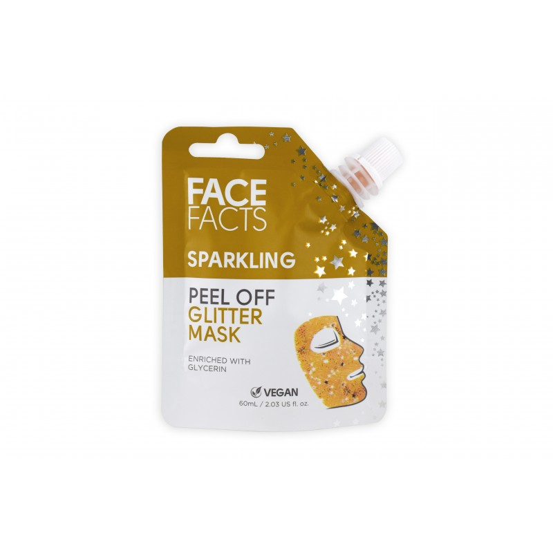 Face Facts Sparkling Glitter Peel Off Mask Gold