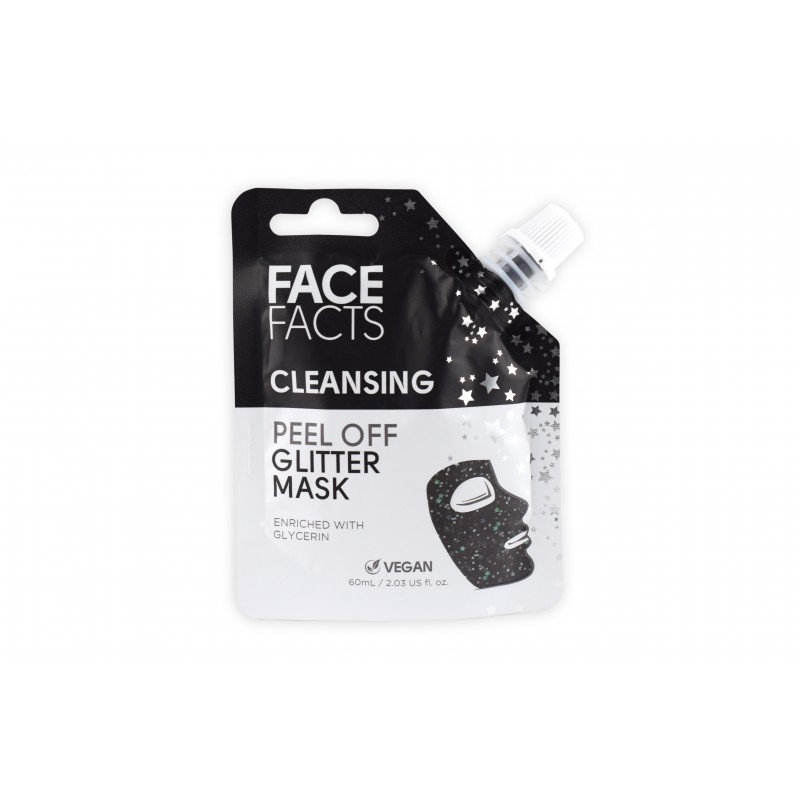 Face Facts Cleansing Glitter Peel Off Mask Black