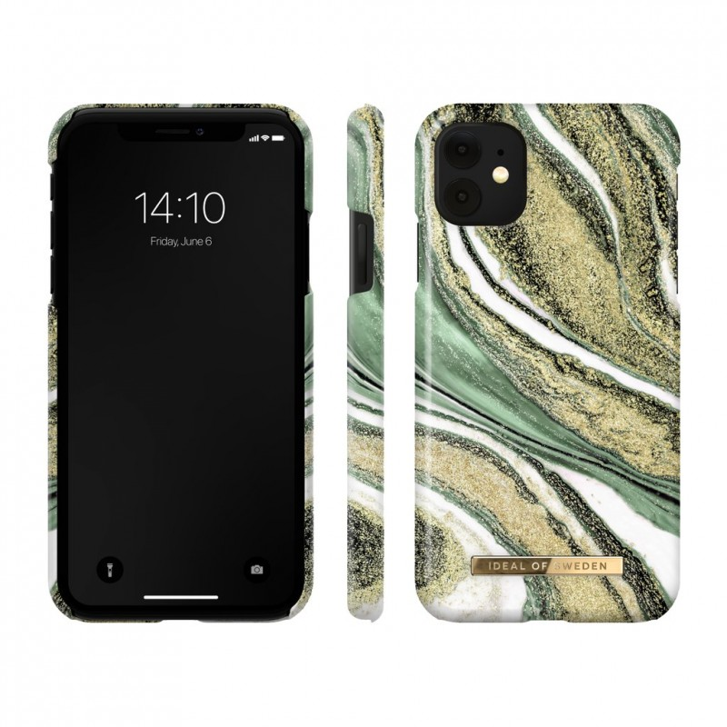 iDeal Of Sweden Fashion Case iPhone 11 Pro Cosmic Green Swirl