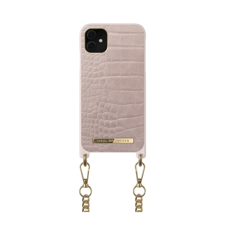 iDeal Of Sweden Ideal Phone Necklace Case iPhone 11 Misty Rose Croco