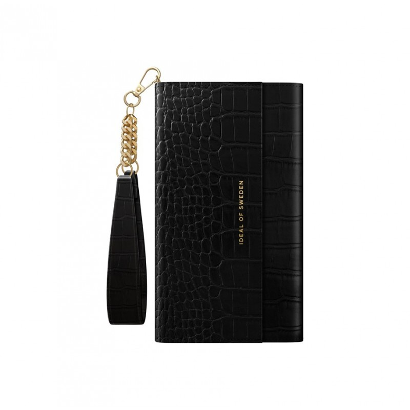iDeal Of Sweden Signature Clutch iPhone 11 Jet Black Croco