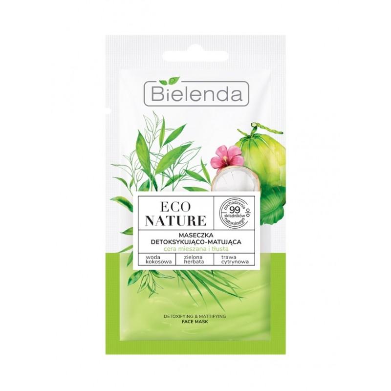 Bielenda Eco Nature Face Mask Coconut Water & Green Tea & Lemon Grass