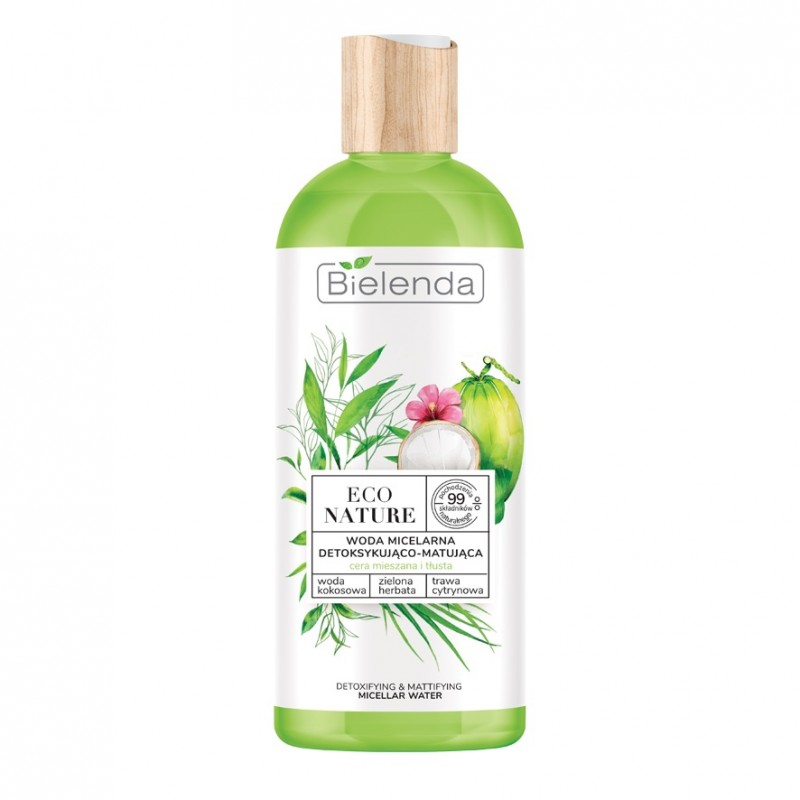 Bielenda Eco Nature Micellar Water Coconut Water & Green Tea & Lemon Grass