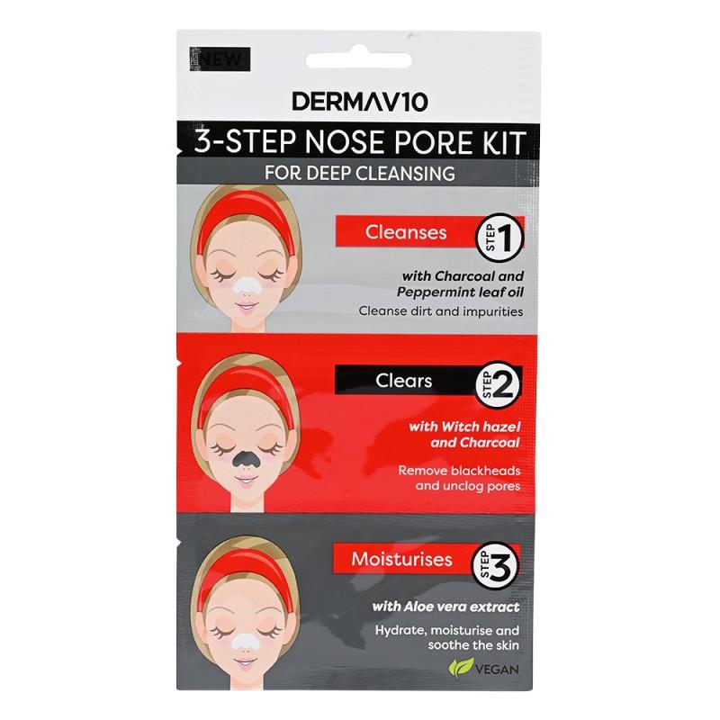 DermaV10 3 Step Nose Pore Kit