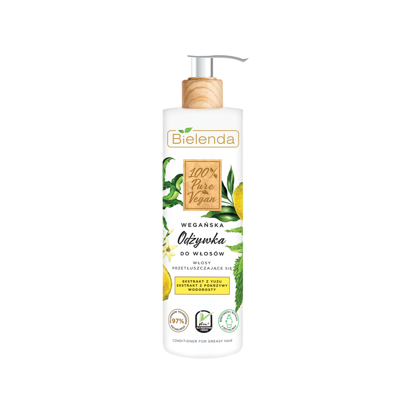 Bielenda 100% Pure Vegan Hair Conditioner For Oily Hair