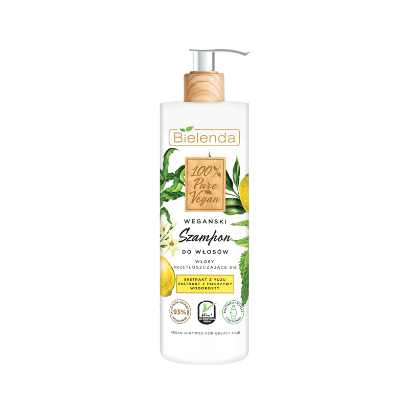 Bielenda 100% Vegan Pure Shampoo For Oily Hair