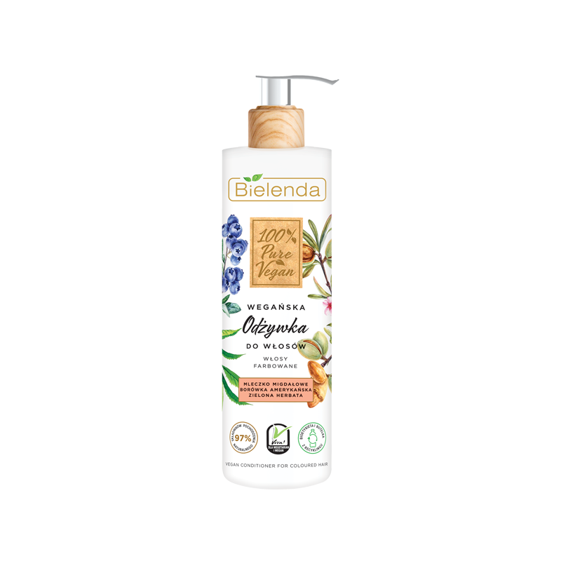 Bielenda 100% Pure Vegan Hair Conditioner For Dyed Hair