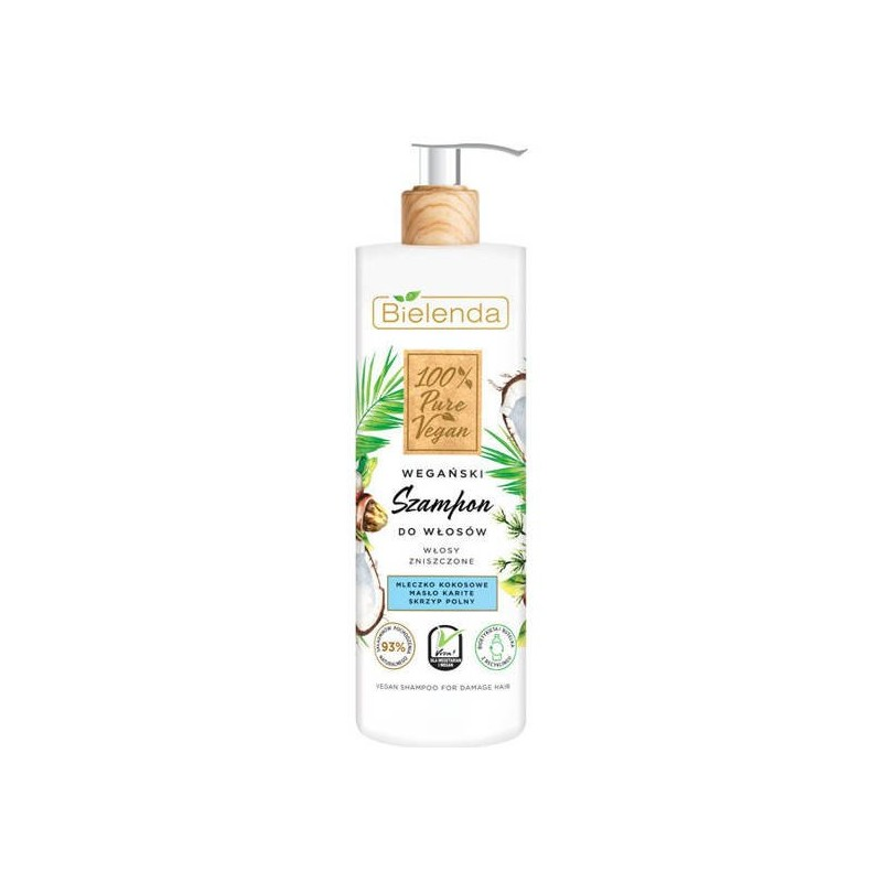 Bielenda 100% Vegan Pure Shampoo For Damaged Hair