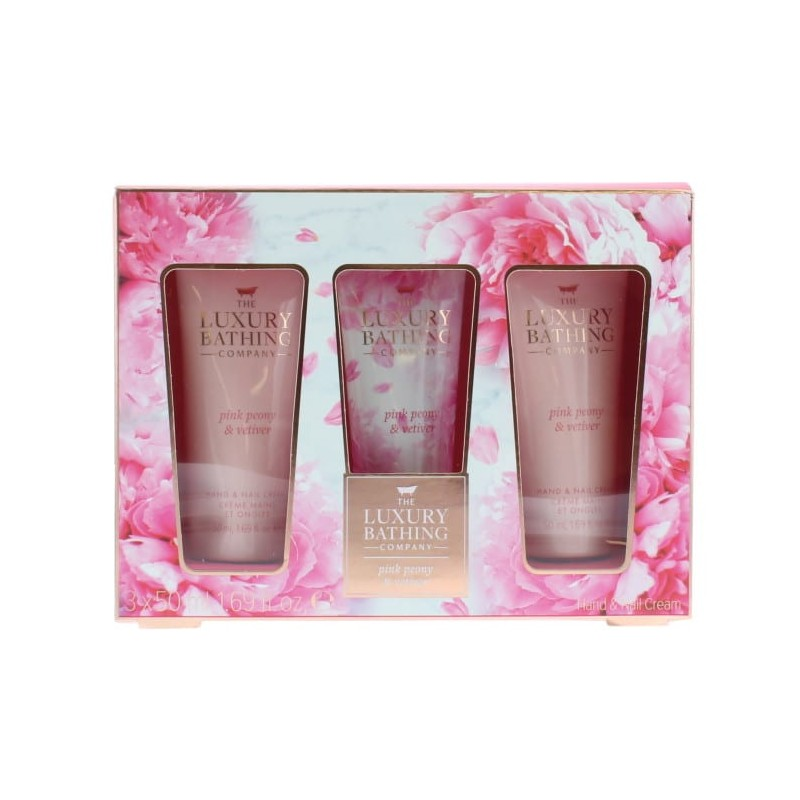 The Luxury Bathing Company Pamper Me Pink Peony & Vetiver Hand & Nail Cream