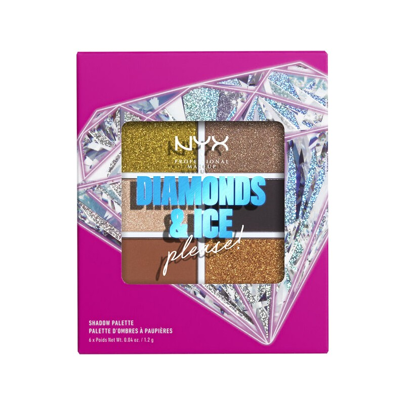 NYX Diamonds & Ice Please! Eyeshadow Palette Jeweled & Jaded
