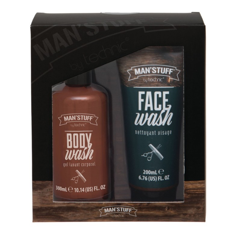 Man'Stuff Double Act Body & Face Wash Gift Set