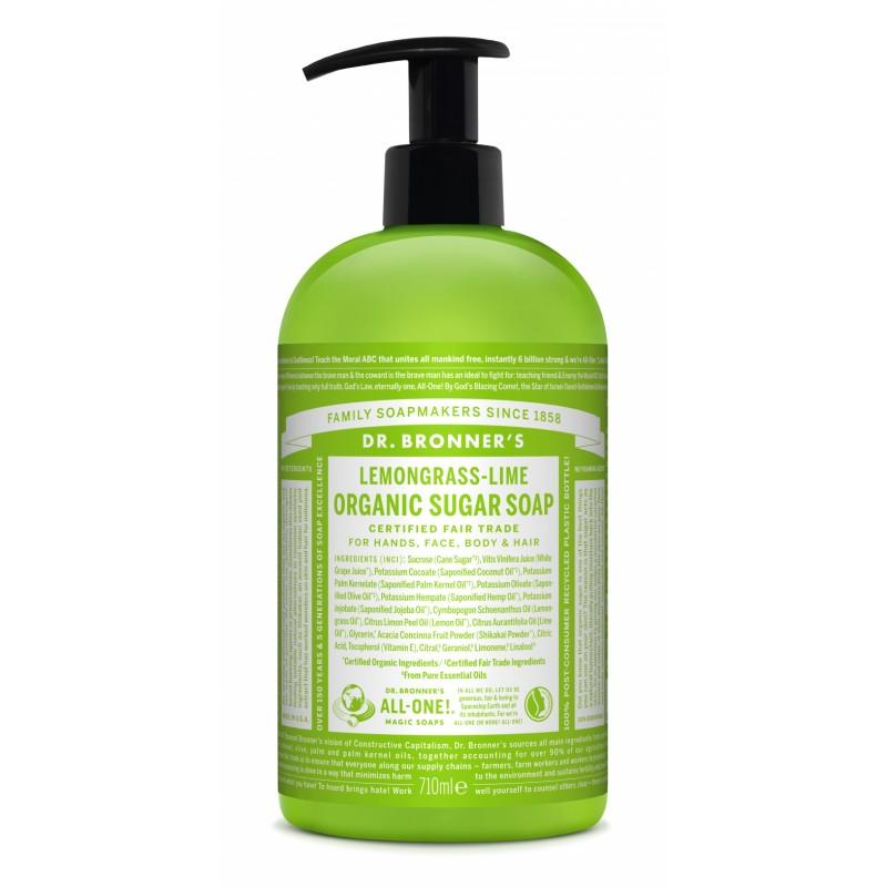 Dr. Bronner's Organic Sugar Soap Lemongrass & Lime