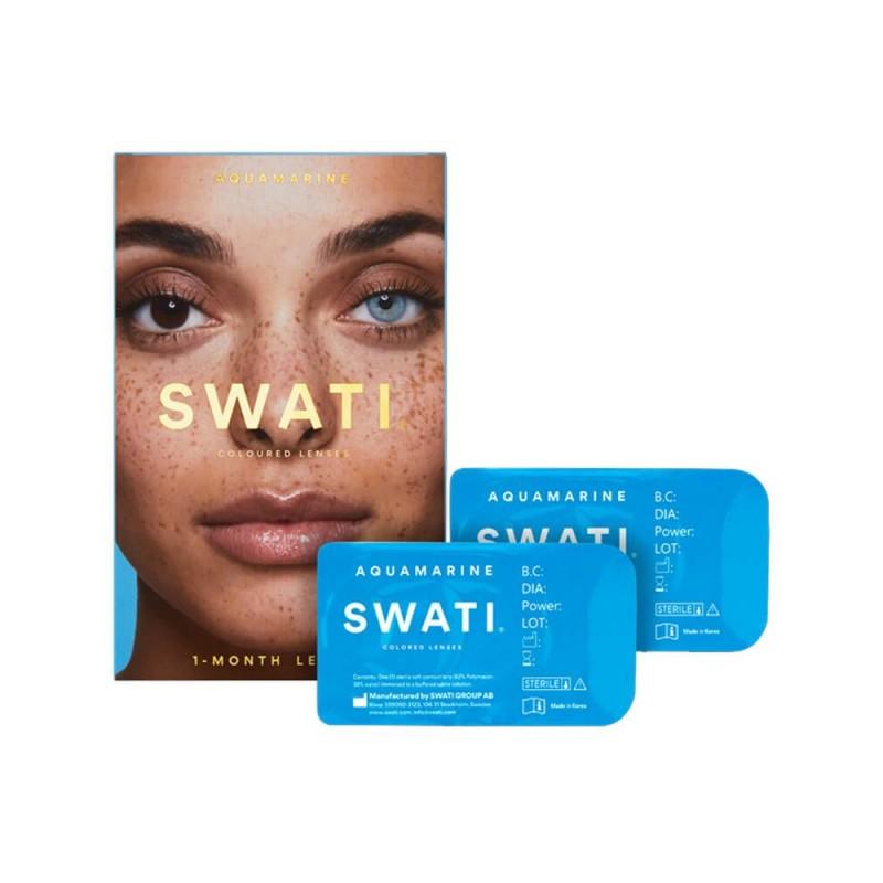 Swati Farvede Kontaktlinser Aquamarine 1 Måned
