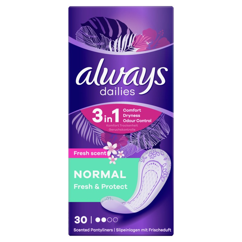 Always Dailies Fresh & Protect Pantyliners Normal