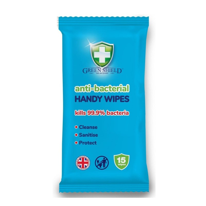Green Shield Anti-Bacterial Handy Hand Wipes