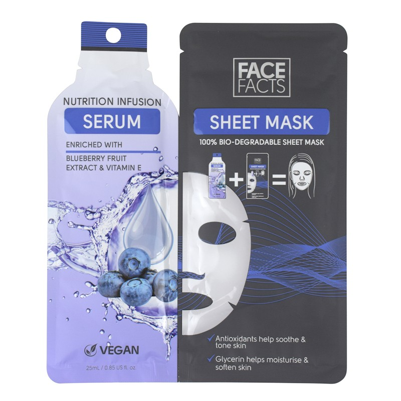 Face Facts Serum Sheet Mask Nutrition Infusion