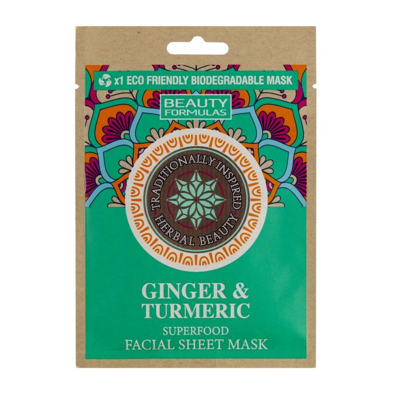 Beauty Formulas Ginger & Turmeric Facial Sheet Mask