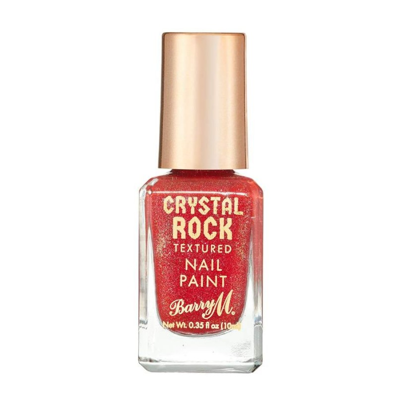 Barry M. Crystal Rock Textured Nail Paint Red Jasper