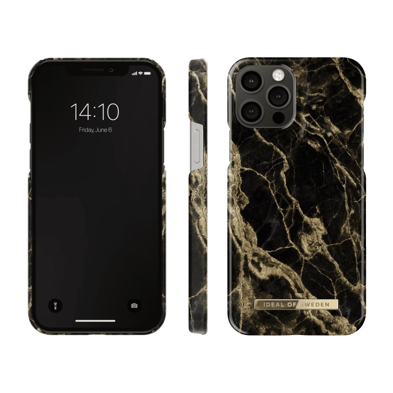 iDeal Of Sweden Fashion Case iPhone 12 Pro Golden Smoke Marble