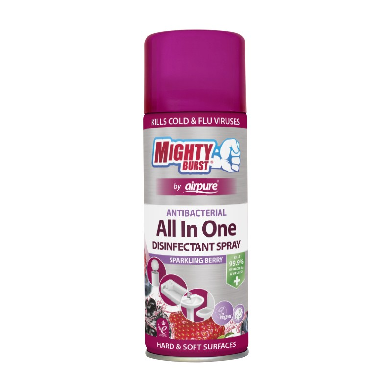 Mighty Burst All In One Disinfectan Spray Sparkling Berry