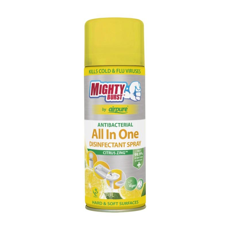 Mighty Burst All In One Disinfectant Spray Lovely Lemons