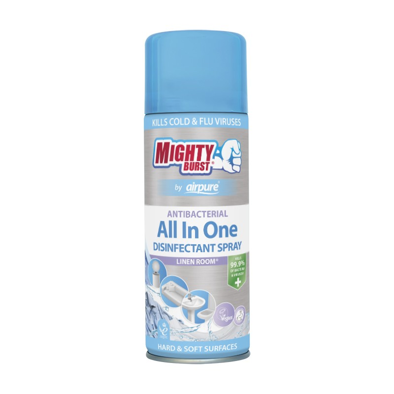 Mighty Burst All In One Disinfectant Spray Linen Room