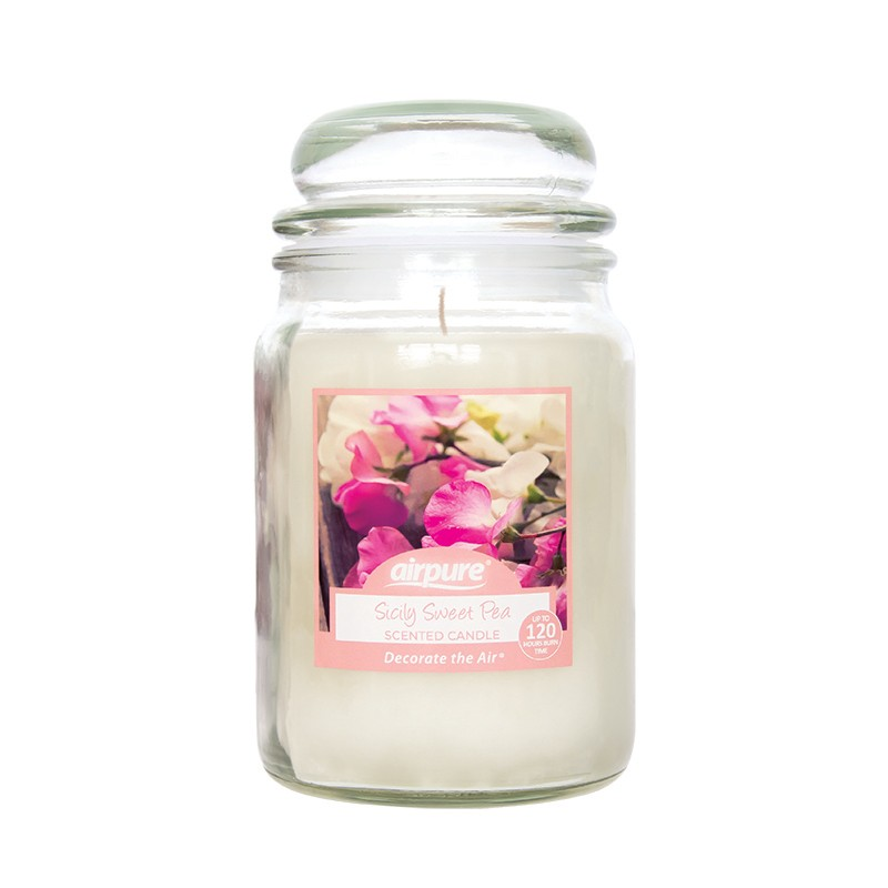 Airpure Sicily Sweet Pea Scented Candle