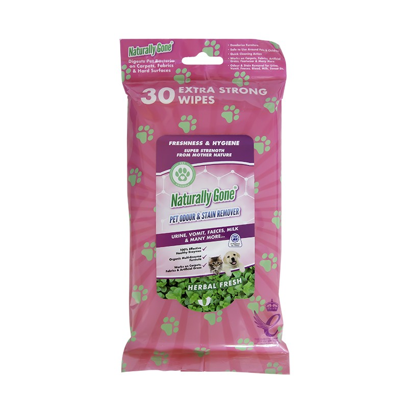 Airpure Naturally Gone Pet Odour & Stain Remover Wipes