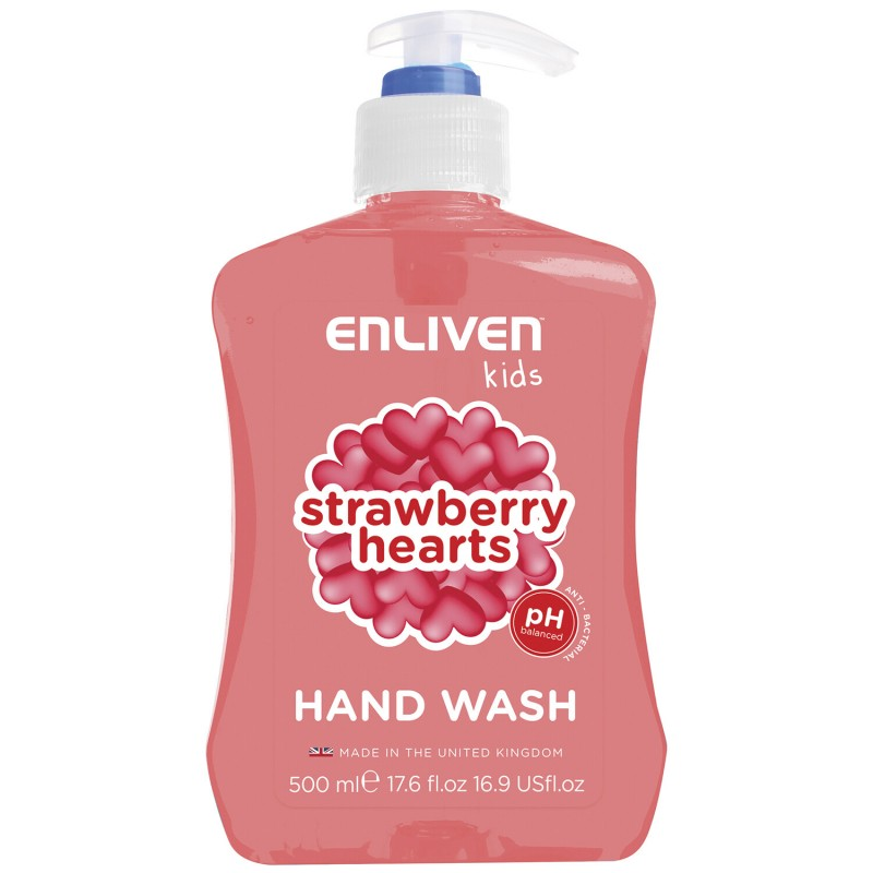 Enliven Kids Anti-Bacterial Handwash Strawberry Hearts