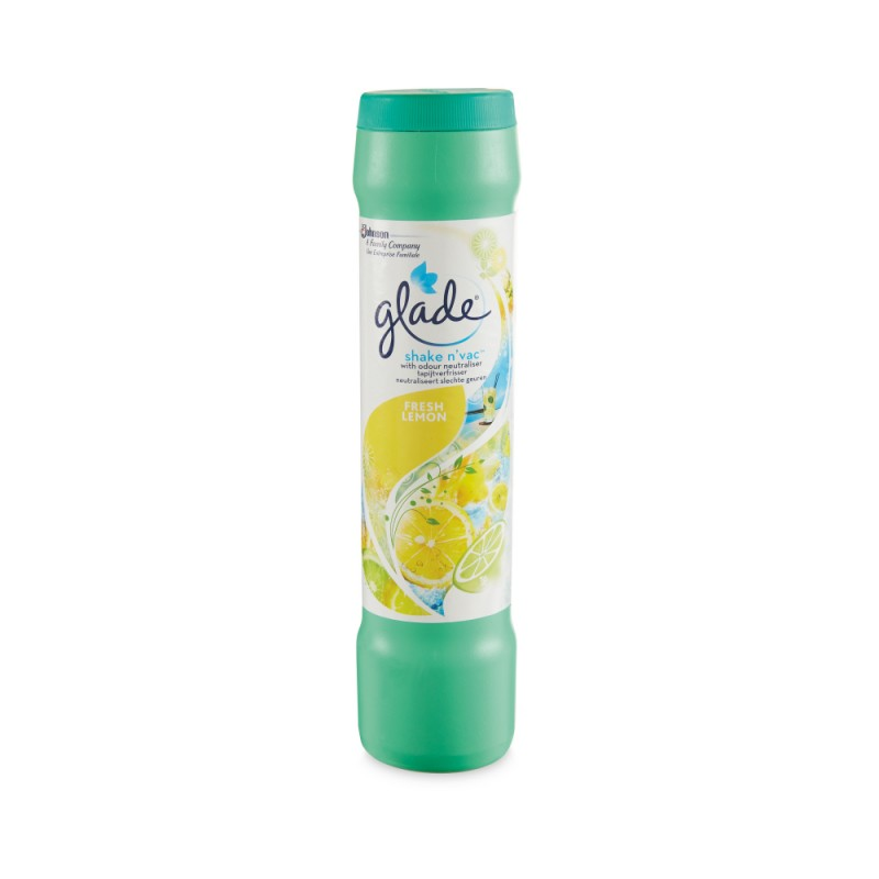 Glade Shake N' Vac Carpet Freshener Powder Fresh Lemon