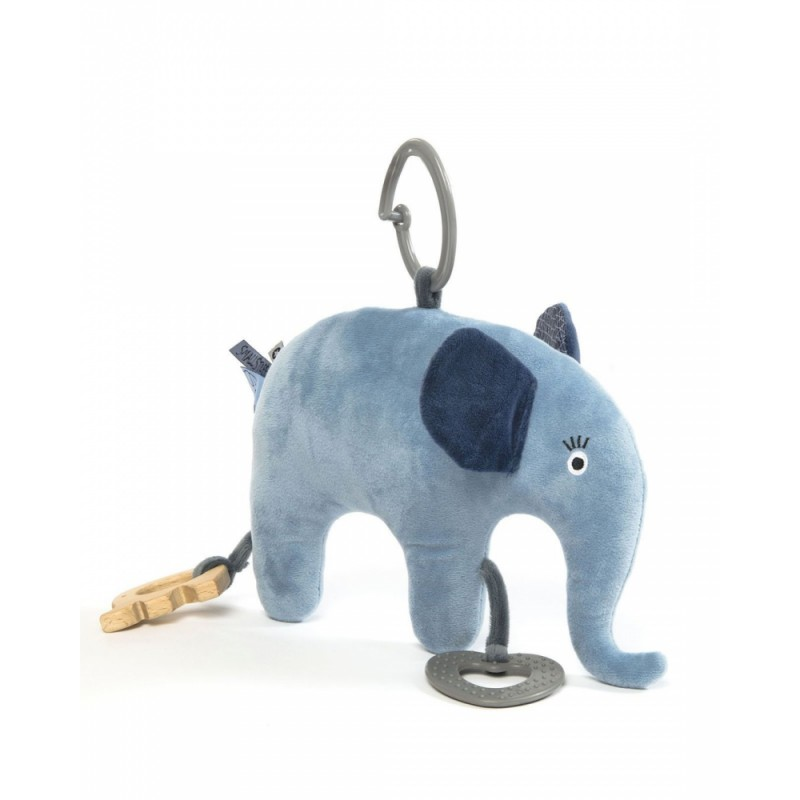 SmallStuff Activity Toy Elefant Ljusblå