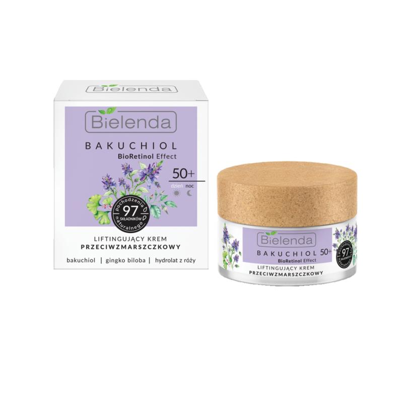 Bielenda Bakuchiol Bioretinol Effect Lifting Antiwrinkle Face Cream 50+