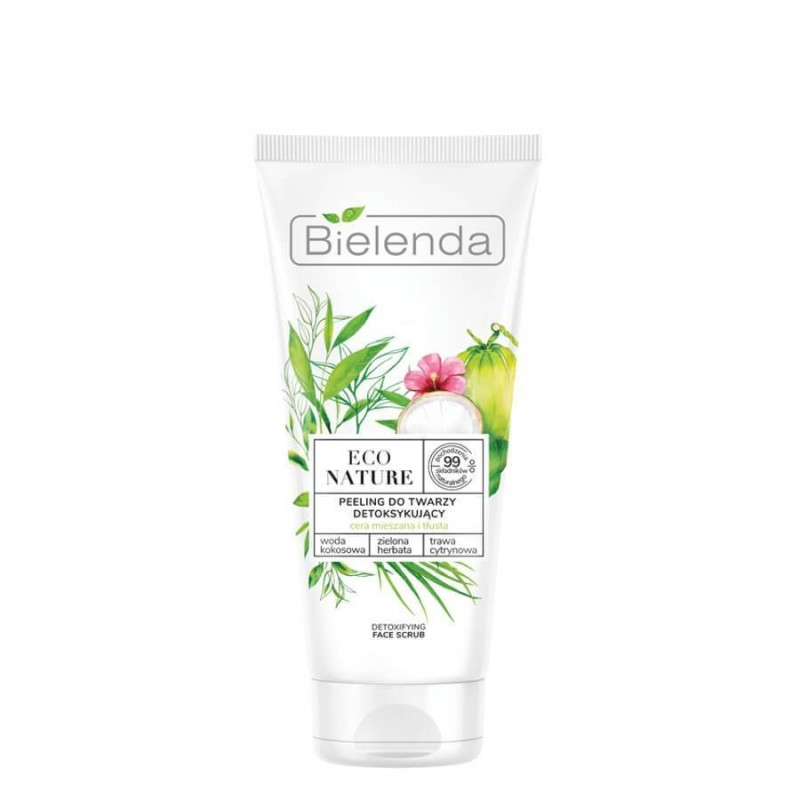 Bielenda Eco Nature Coconut Water & Green Tea & Lemon Grass Face Scrub