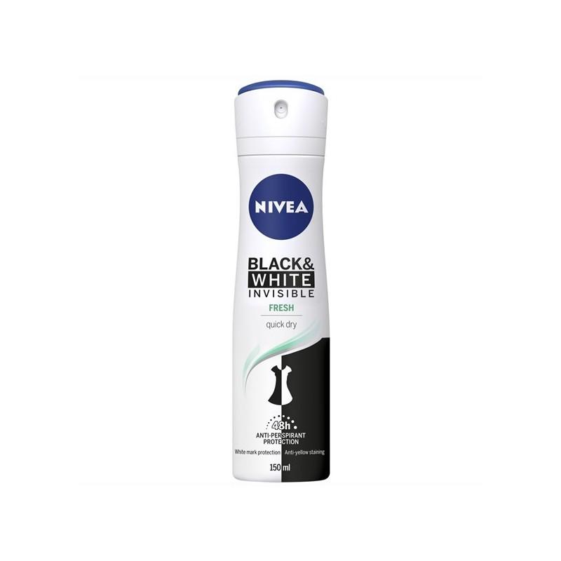 Nivea Invisible Black & White Fresh Deospray