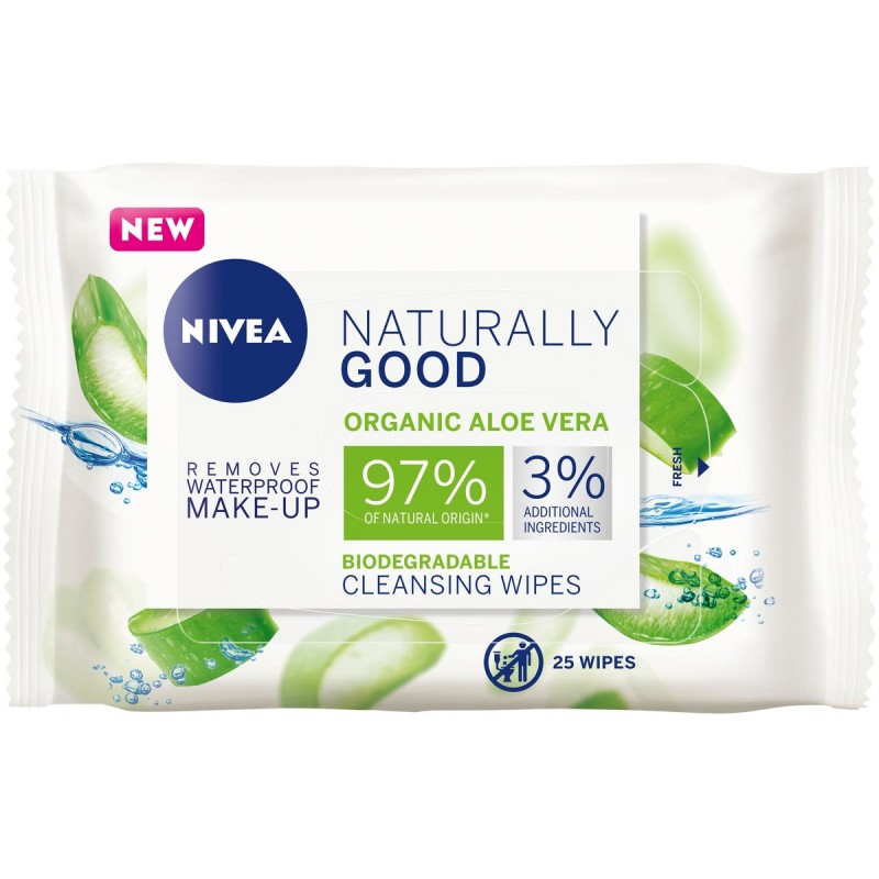 Nivea Naturally Good Biodegradable Cleansing Wipes