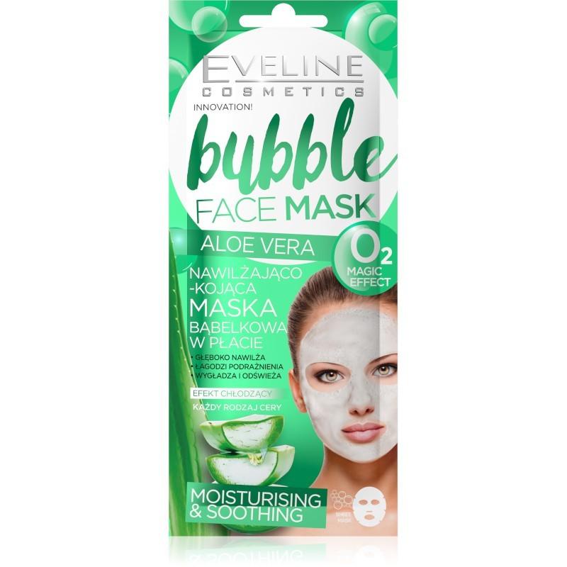 Eveline Bubble Face Mask Moisturising & Soothing Aloe Vera