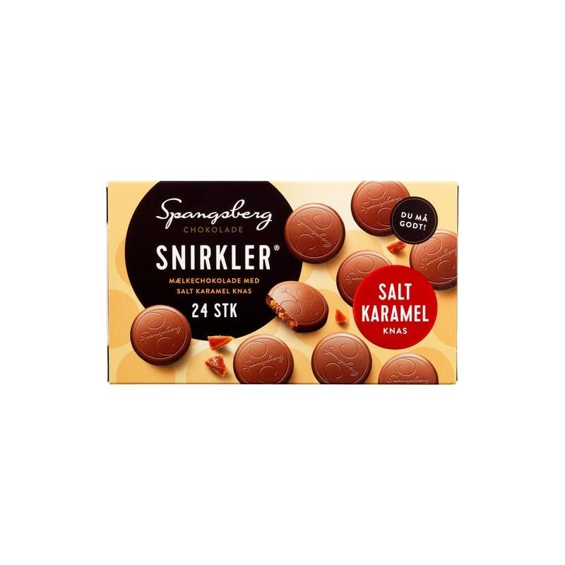 Spangsberg Snirkler Mjölkchoklad Med Saltkaramell