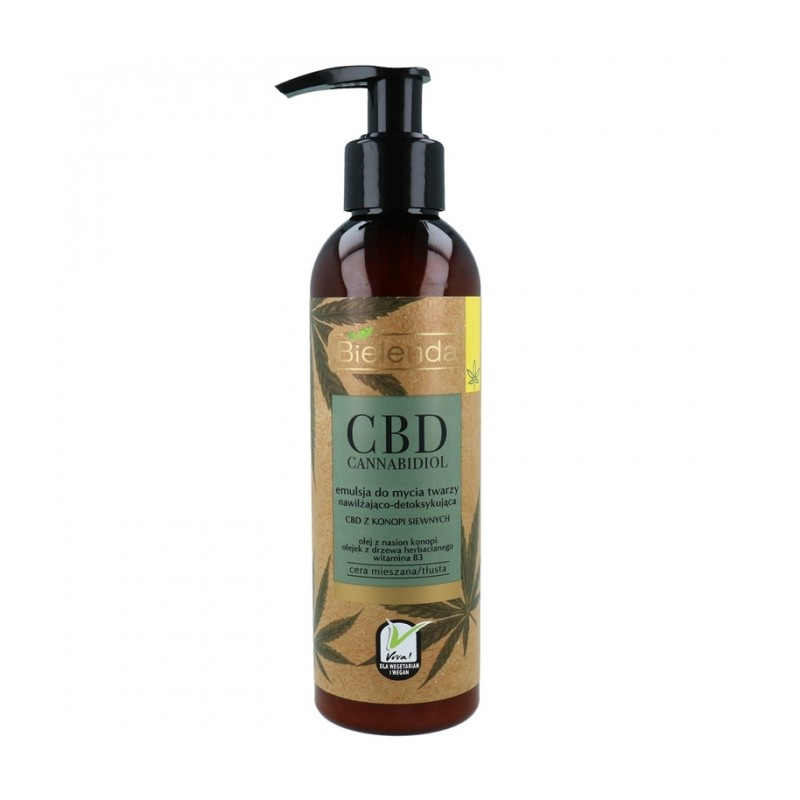 Bielenda CBD Cannabidiol Face Cleansing Emulsion For Mixed & Greasy Skin