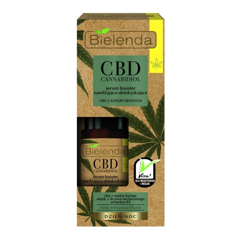 Bielenda CBD Cannabidiol Moisturizing & Detoxifying Face Serum For Mixed & Greasy Skin