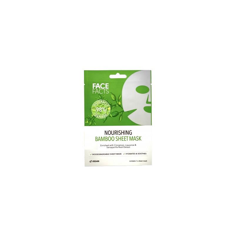 Face Facts 98% Natural Nourishing Bamboo Sheet Mask