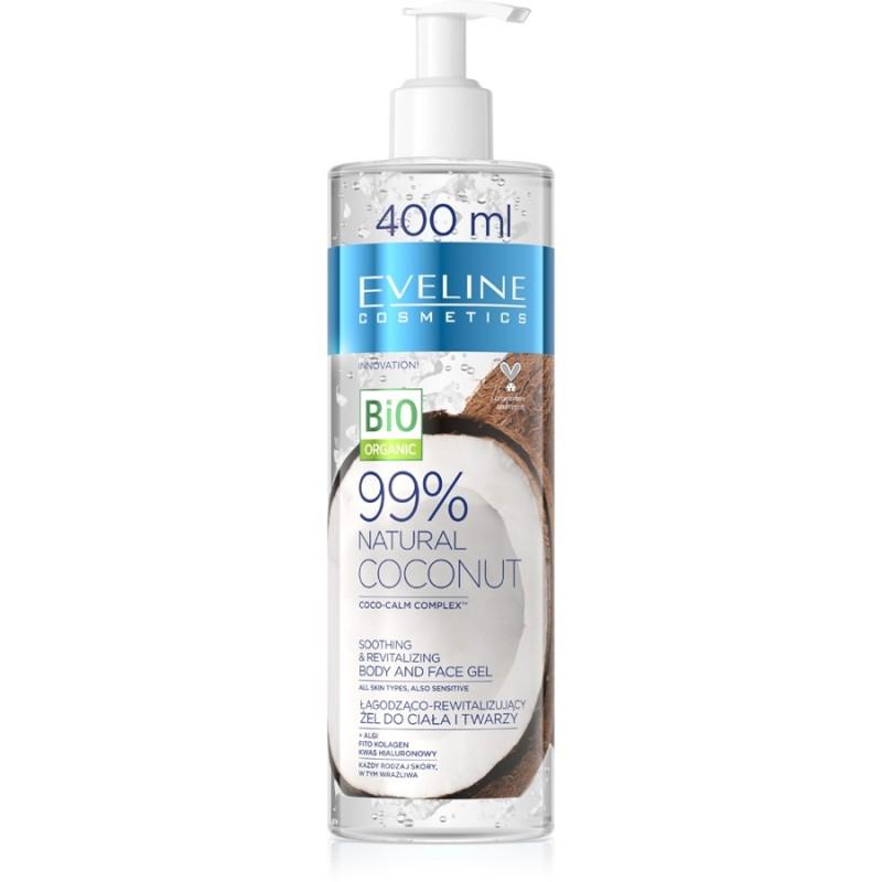 Eveline 99% Natural Coconut Smoothing & Revitalizing Body & Face Gel