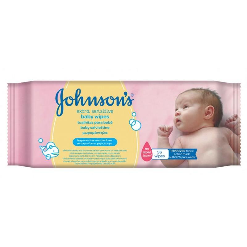 Johnson's Extra Sensitive Baby Wipes Fragrance Free