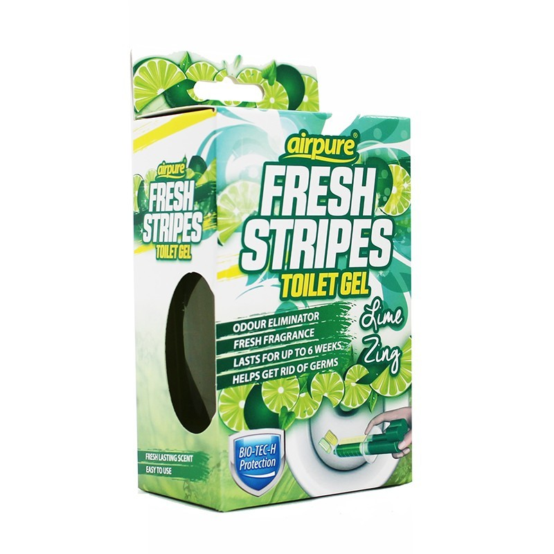 Airpure Fresh Stripes Toilet Gel Lime Zing