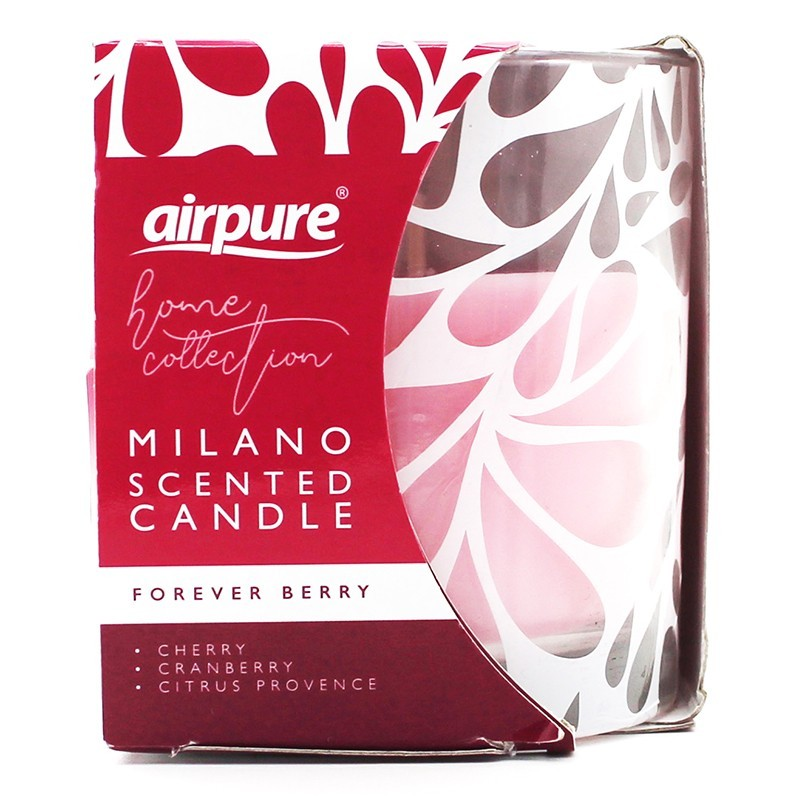 Airpure Milano Scented Candle Forever Berry